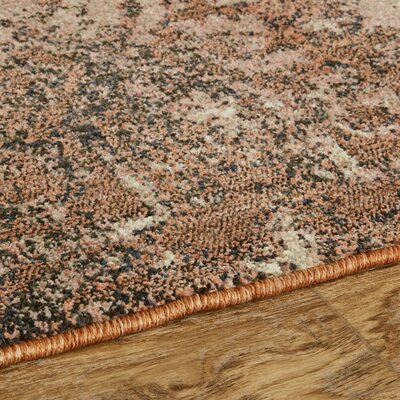 Cloisters Blush Pink and Ivory Area Rug Rug Size: Rectangle 53 x 710