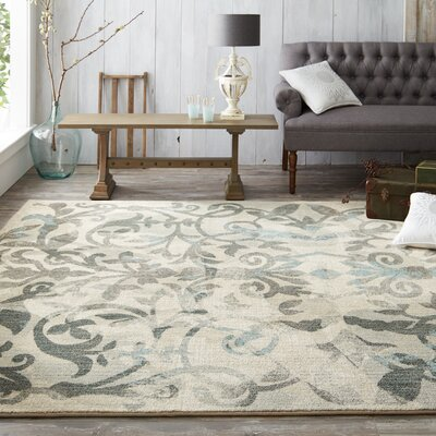 Studio Serenade Cascade Gray Area Rug Rug Size: Rectangle 5'3