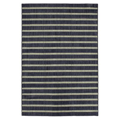 Paulette Stripe Blue Area Rug Rug Size: Rectangle 35 x 52