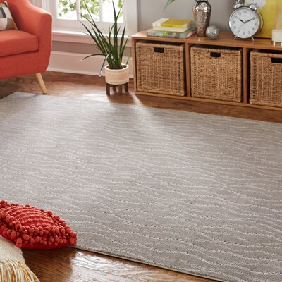 Bettie Gray Area Rug Rug Size: 9 x 12