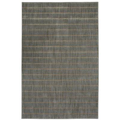 Ehren Stripes Sea Gray Area Rug Rug Size: 53 x 710