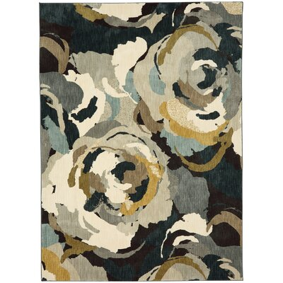 Wilbert Beige/Black Area Rug Rug Size: Rectangle 53 x 710