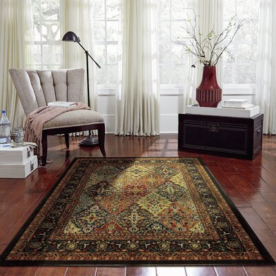 Willimantic Orange/Black/Brown Area Rug