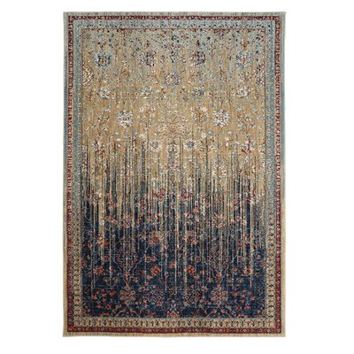 Elenora Blue/Beige Area Rug Rug Size: Rectangle 8 x 1211
