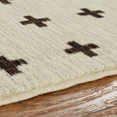 Maloree Cream Area Rug Rug Size: Rectangle 76 x 10