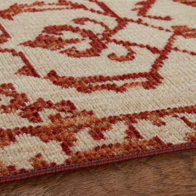Corena Cream/Garnet Area Rug Rug Size: Rectangle 5 x 8
