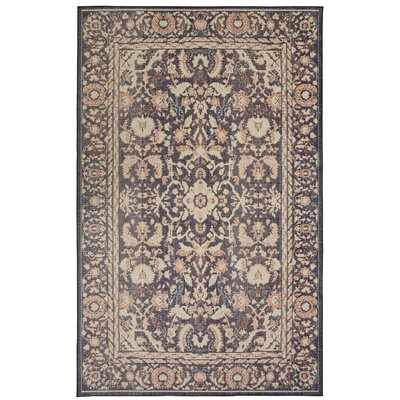 Kavya Blue/Tan/Red Area Rug Rug Size: Rectangle 76 x 10