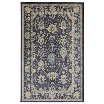 Kavya Indigo Area Rug Rug Size: Rectangle 5 x 8
