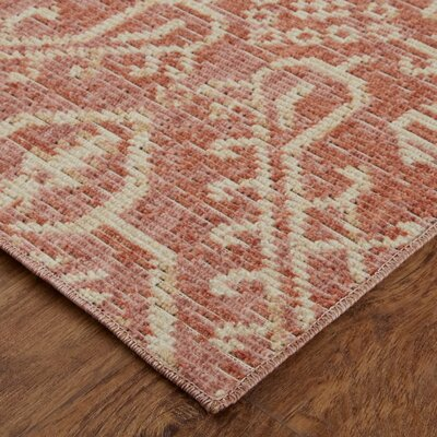 Kavya Coral Area Rug Rug Size: Rectangle 76 x 10