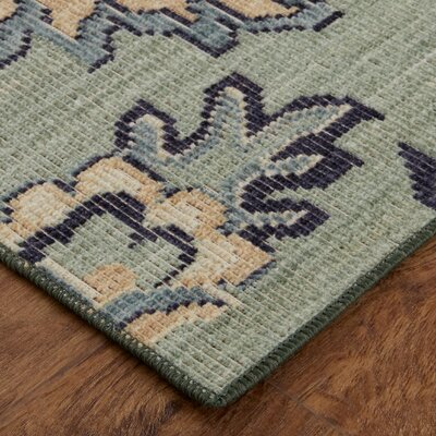 Kavya Aqua Area Rug Rug Size: Rectangle 76 x 10