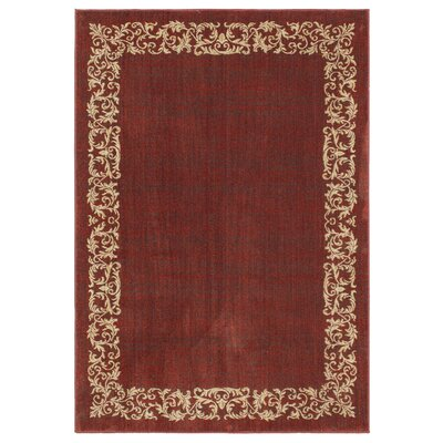Liola Garnet Area Rug Rug Size: Rectangle 53 x 76