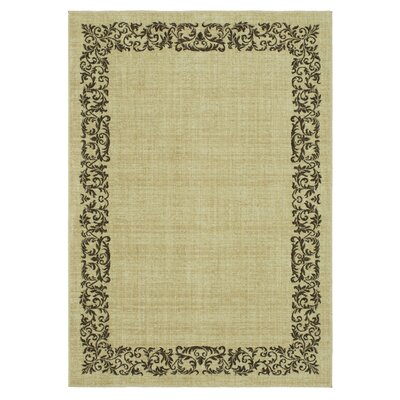 Liola Beige Area Rug Rug Size: Rectangle 53 x 76