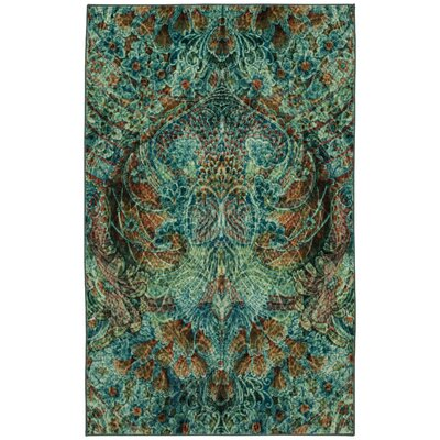 Edinboro Aqua Area Rug Rug Size: Rectangle 8 x 10
