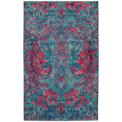 Edinboro Pink/Blue Area Rug Rug Size: Rectangle 5 x 8