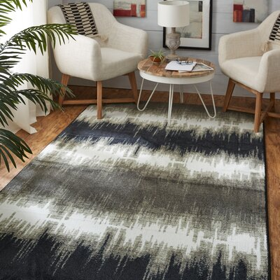 Amblewood Charcoal Area Rug Rug Size: Rectangle 8 x 10