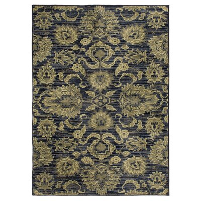 Mcgarity Navy/Green Area Rug