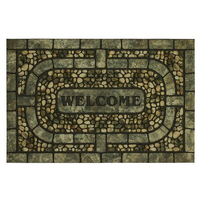 Kanesha Welcome Garden Pebbles Doormat
