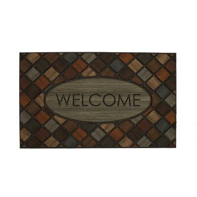 Oellers Welcome Marquetry Doormat