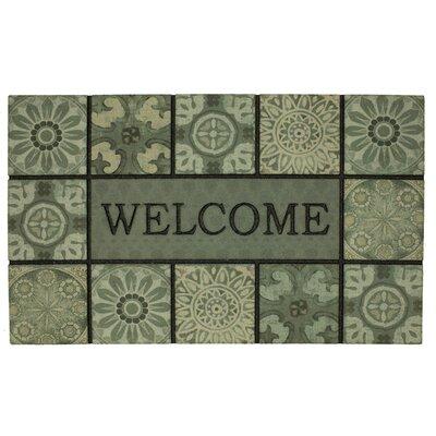 Cariati Welcome Ocean Tiles Slate Doormat