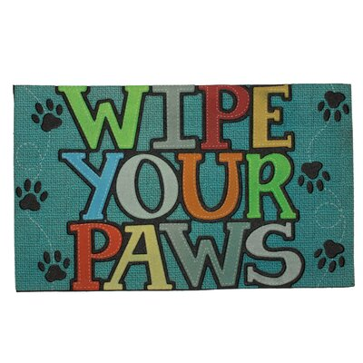 Wipe Your Paws Doormat Color: Green