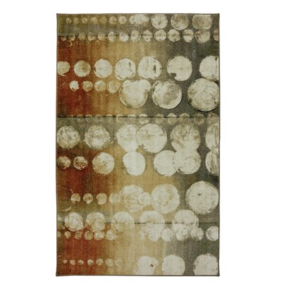 Shekhar Wave Rain Neutral Beige/Charcoal Gray Area Rug Rug Size: Rectangle 76 x 10