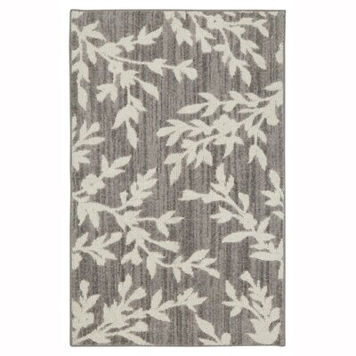 McDougall Floral Branches Hand Tufted Gray/Cream Area Rug