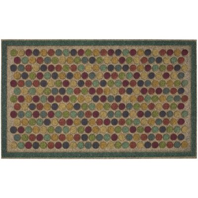 Filemyr Colorful Dots Bright Ornamental Entry Doormat