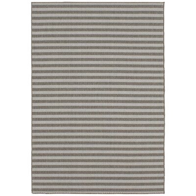 Lenaghan Indoor/Outdoor Silver Area Rug Rug Size: Rectangle 53 x 76
