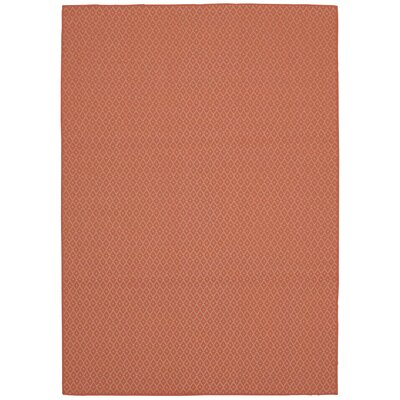 Dubish Indoor/Outdoor Coral Area Rug Rug Size: Rectangle 53 x 76