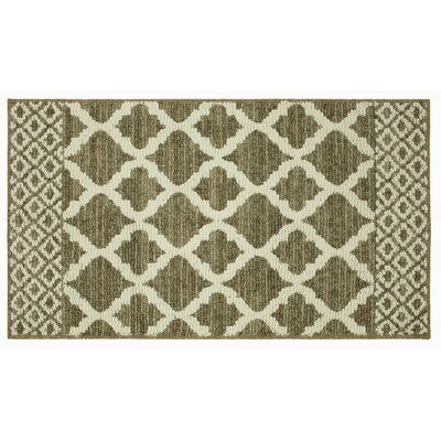 Calles Moroccan Lattice Dark Khaki/Cream Area Rug Rug Size: Rectangle 26 x 39