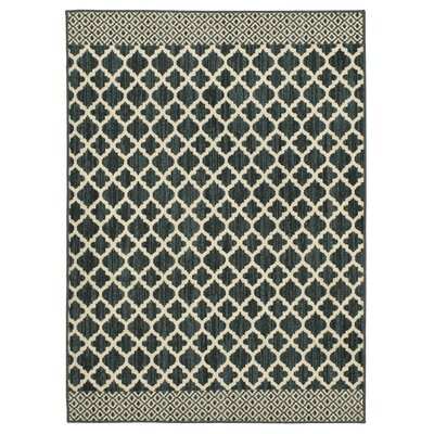 Callihan Moroccan Lattice Dark Khaki/Cream Area Rug Rug Size: Rectangle 26 x 39