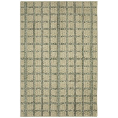 Cira Essential Grid Hand Tufted Sand Area Rug Rug Size: Rectangle 26 x 39
