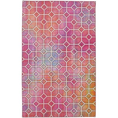Tenafly Trellis Kaleidoscope Pink Area Rug Rug Size: Rectangle 8 x 10