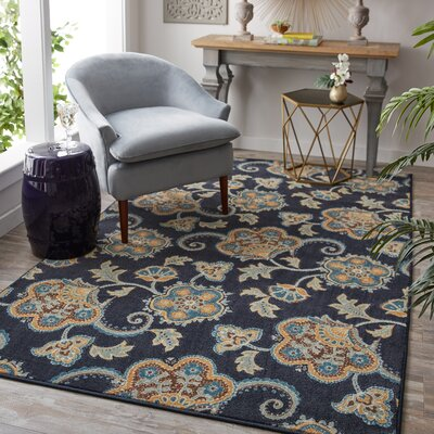 Layman Navy Area Rug Rug Size: Rectangle 8 x 10