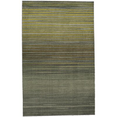 Clement Horizon Line Green Area Rug Rug Size: Rectangle 8 x 10