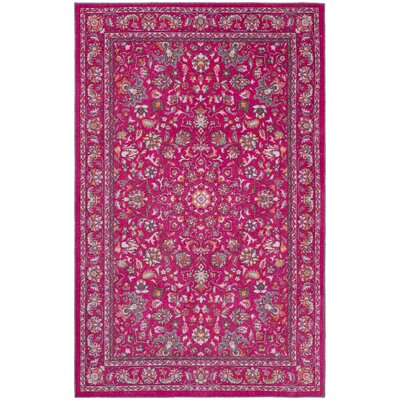 Lenora Pink Area Rug Rug Size: Rectangle 8 x 10