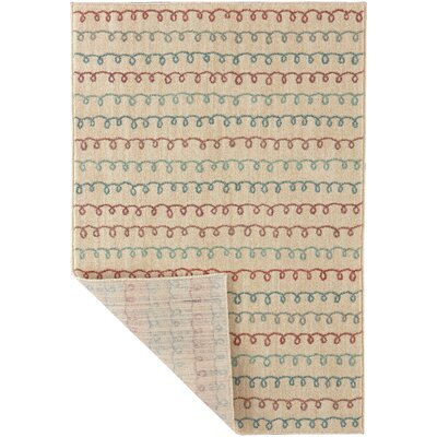 Callicoon Doodle Beige Area Rug Rug Size: Rectangle 53 x 76