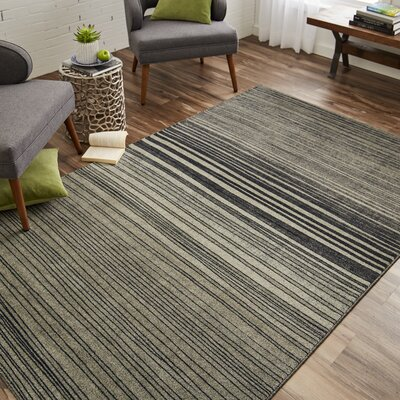Clement Horizon Line Charcoal/Smoky Gray Area Rug Rug Size: Rectangle 76 x 10