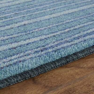 Clement Horizon Line Blue/Green Area Rug Rug Size: Rectangle 76 x 10