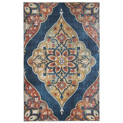 Dario Blue/Red Area Rug Rug Size: Rectangle 5 x 9