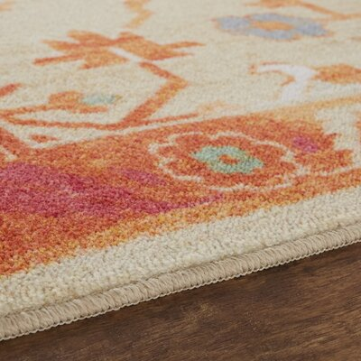 Dario Tropical Tan/Orange Area Rug Rug Size: Rectangle 8 x 10