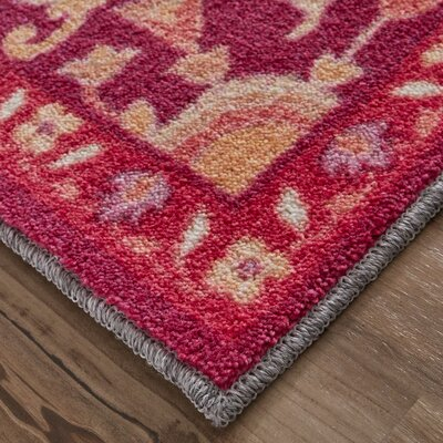 Dario Red/Orange Area Rug Rug Size: Rectangle 5 x 8