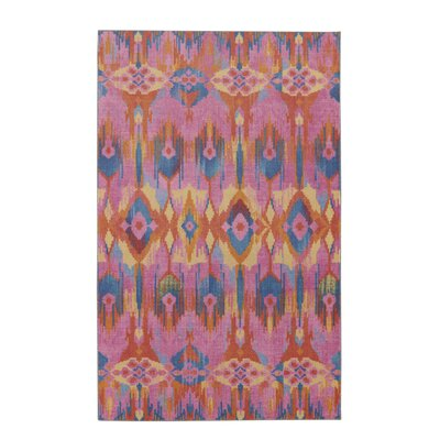 Dario Painted Batik Tangerine/Pink Area Rug Rug Size: Rectangle 8 x 10