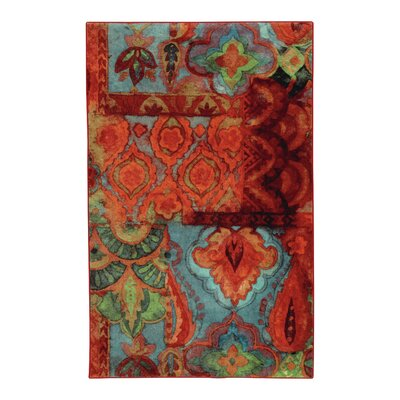Tatyana Boho Red Area Rug Rug Size: Rectangle 76 x 10
