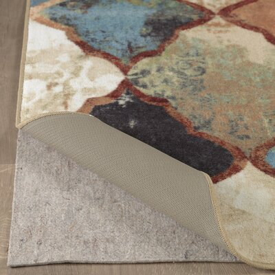 Adne Distressed Neutral Cream/Brown Area Rug Rug Size: Rectangle 76 x 10