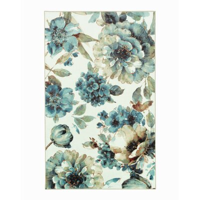 Karnak Floral Green/Blue Area Rug Rug Size: Rectangle 76 x 10