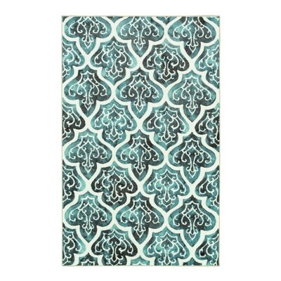 Tatyana Fret Cream/Indigo Area Rug Rug Size: Rectangle 76 x 10