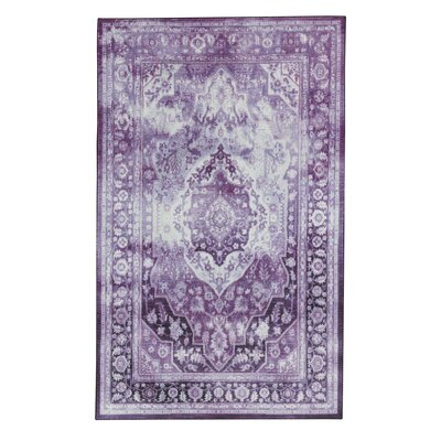 Dario Purple/Cream Area Rug Rug Size: Rectangle 8 x 10