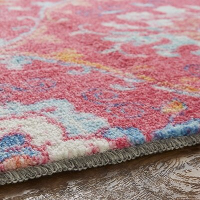 Dario Pink Area Rug Rug Size: Rectangle 8 x 10