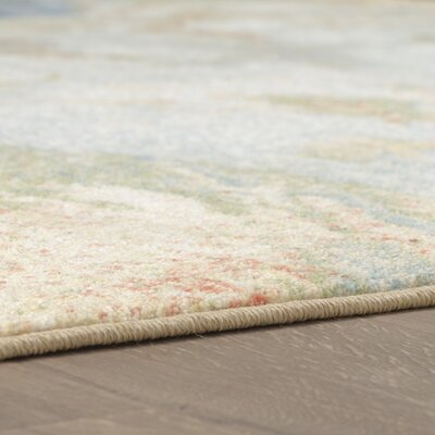 Niven Marble Ink Blue/Ivory Area Rug Rug Size: Rectangle 8 x 10